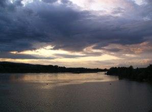 Donau nach Gewitterregnen – the Danube after a Thunderstorm