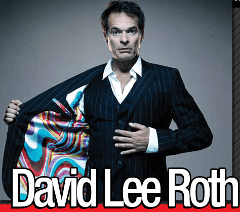 Out of the blackness of time comes…David Lee Roth