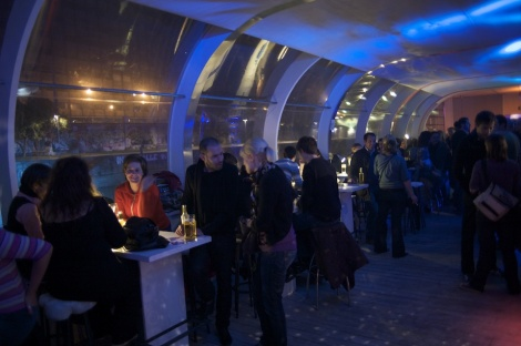 Viennale party upstairs Badeschiff