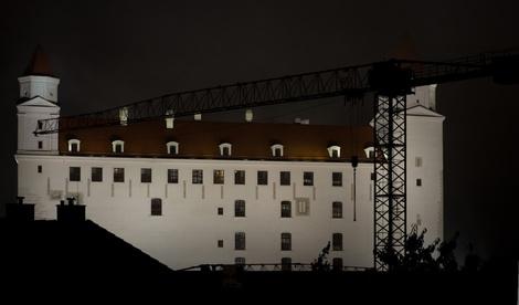 Bratislava Castle in Fog