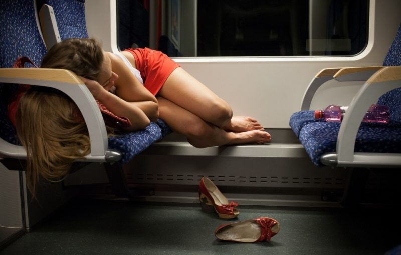 Girl Sleeping, Night Train