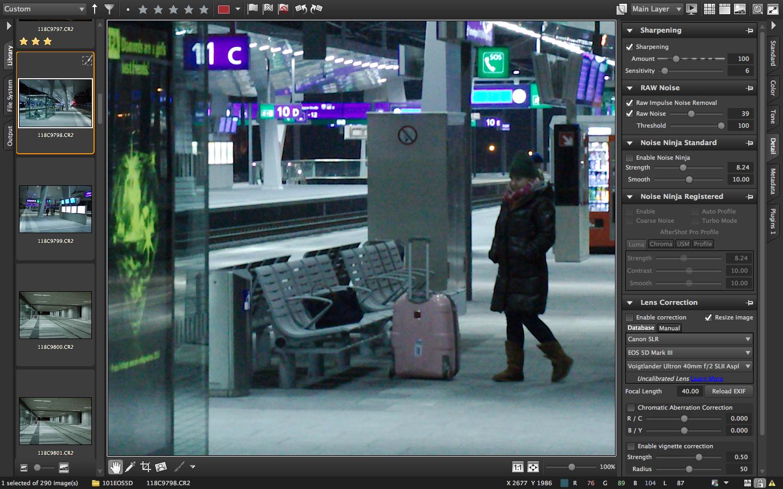 Corel AfterShot Pro vs Adobe Lightroom 4: noise reduction | uncoy