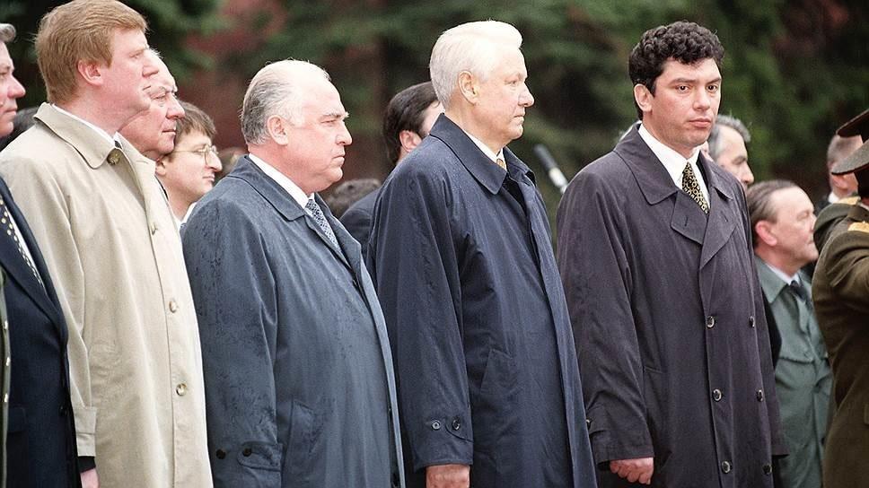 Anatoly-Chubais-Viktor-Chernomyrdin-Boris-Yeltsin-Boris-Nemtsov