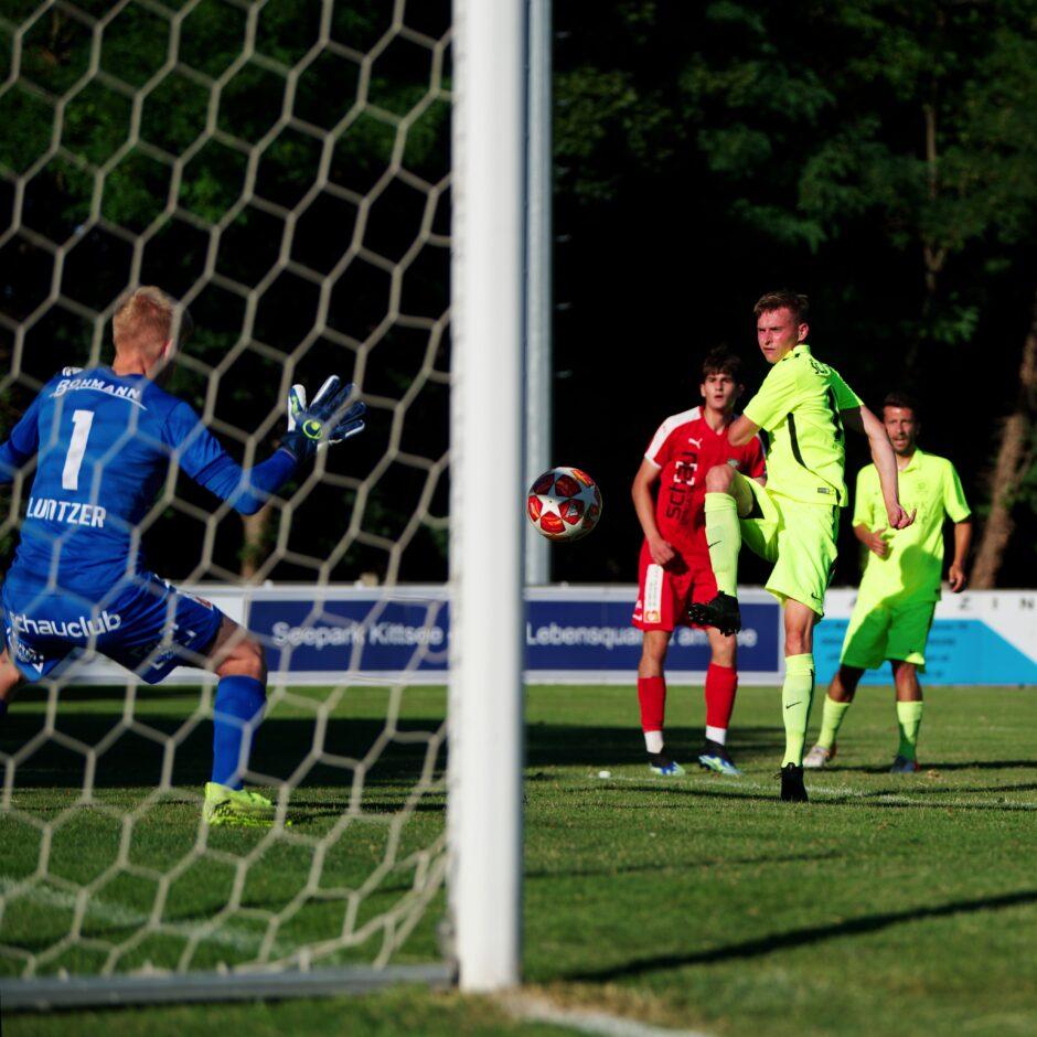 Dangerous shot on goal by Jozef Sombat