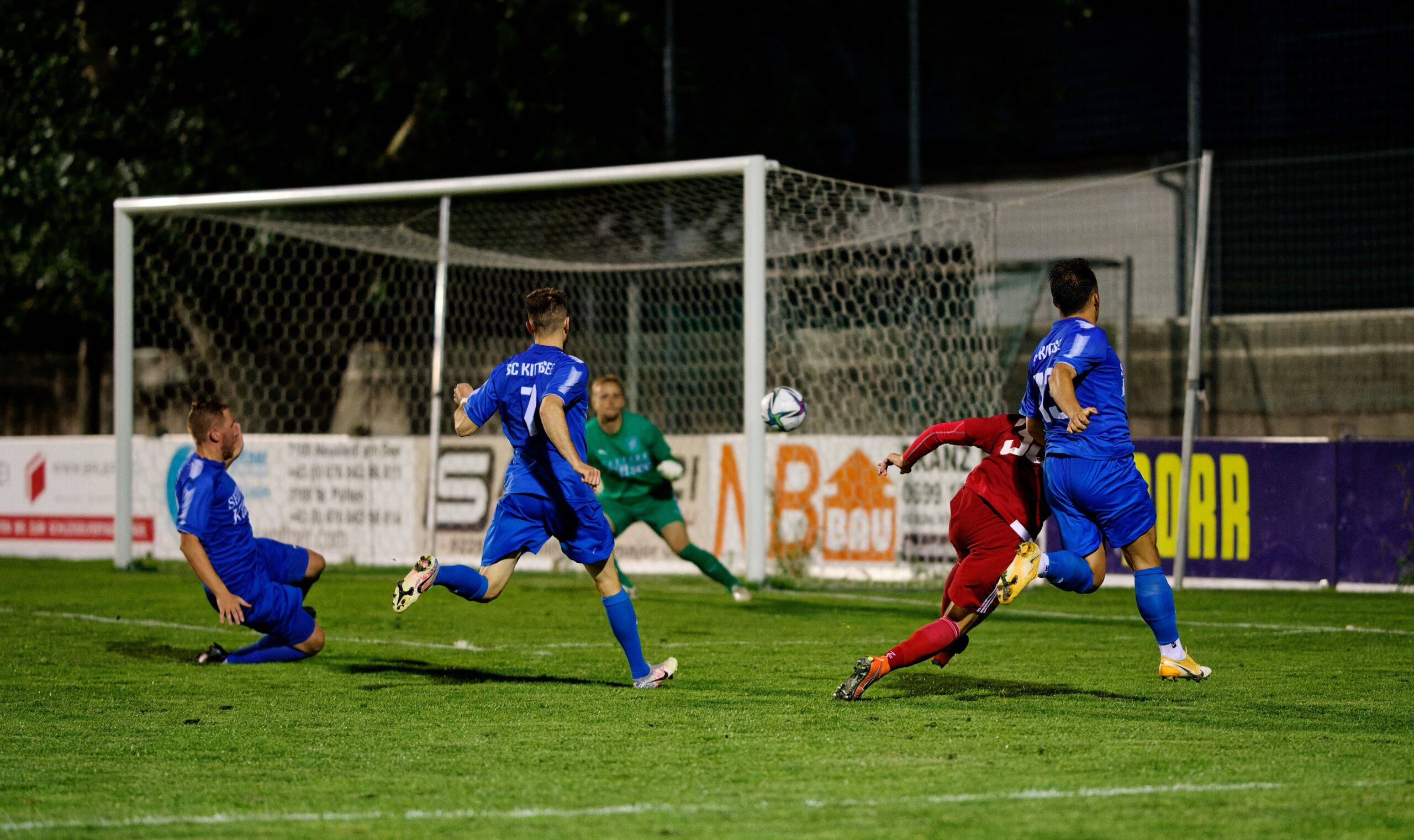 Secco shoots on goal