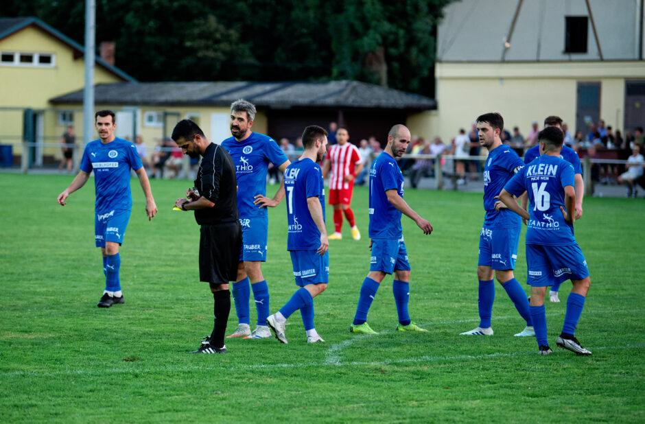 Yellow card for Andau's Marek Sabo