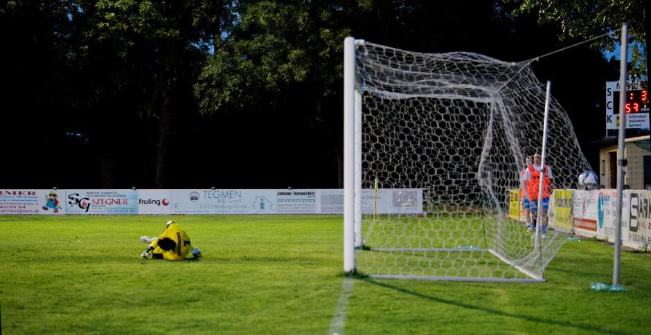 Sombat's goal lits the net