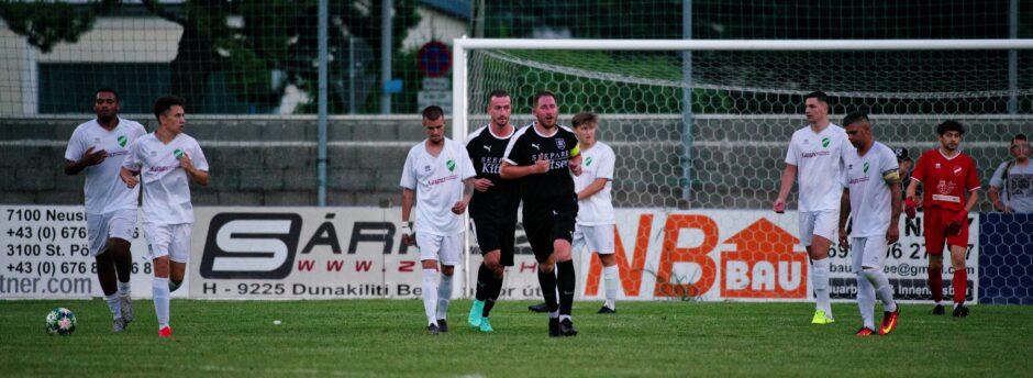Tomas Bastian runs to centrefield after quick goal
