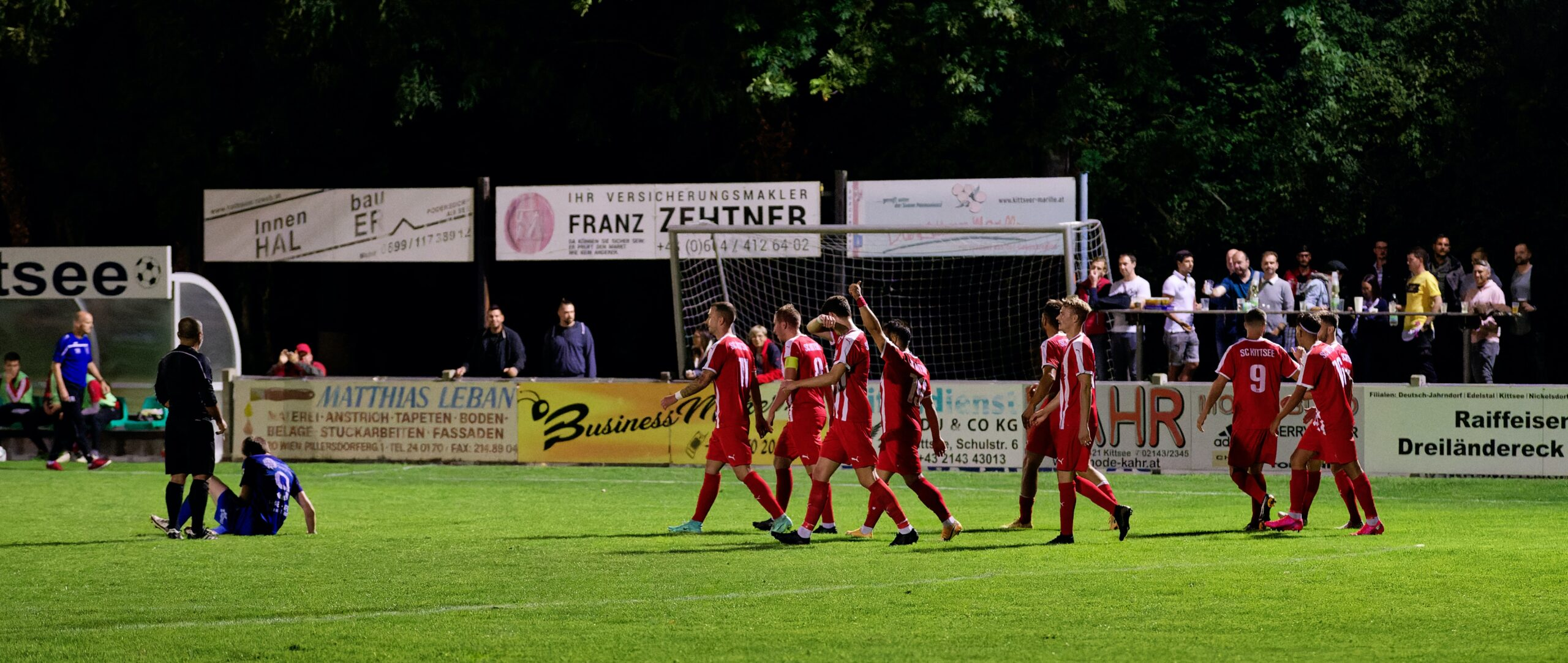 SC Kittsee celebrate Wisak goal