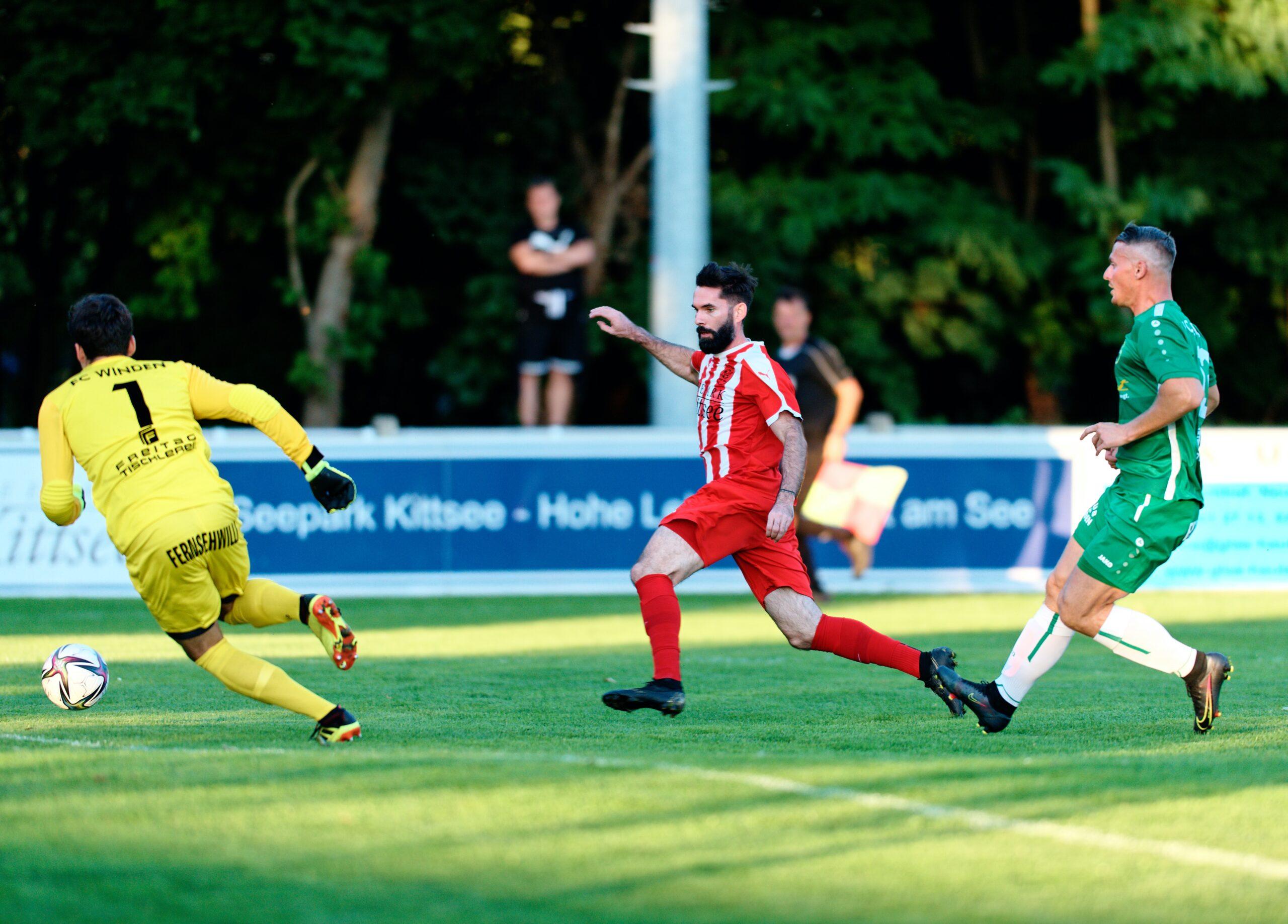 Juraj Fuska in front of goal