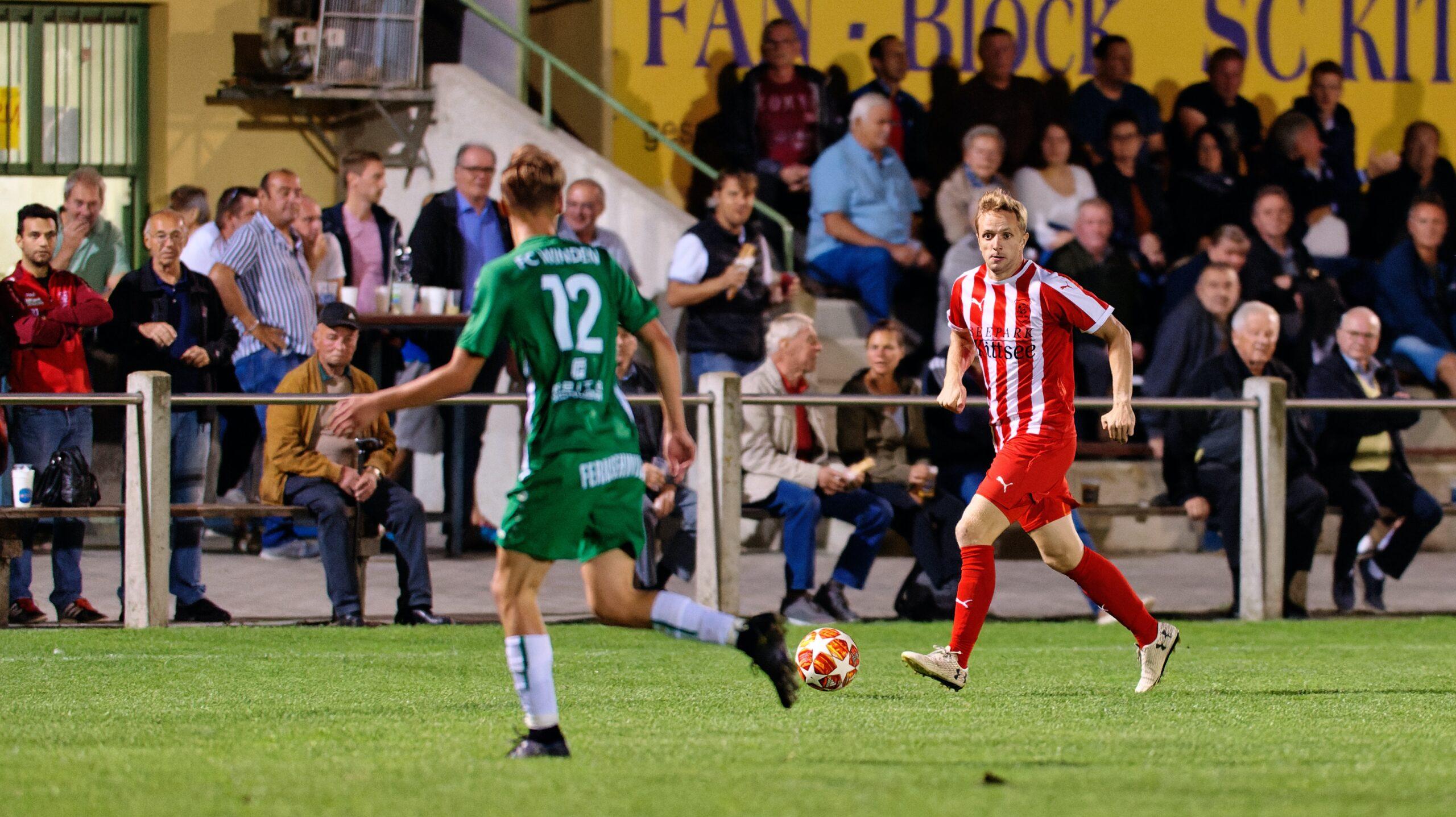 Peter Barinece in midfield