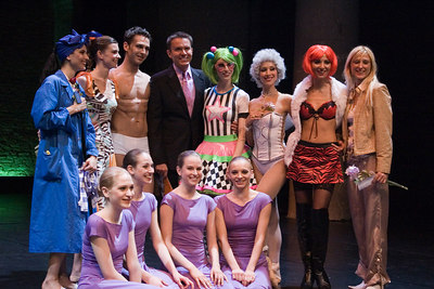 Alfons Haider with Choreolab Performers and Choreographer Patricia Sollak
