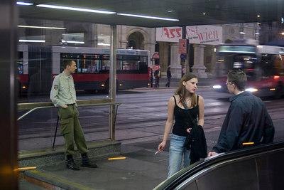 Vienna girl at night