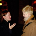 anna p. and astrid talk after the show