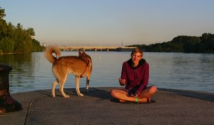 Liz-And-Yukon-On-The-Donau